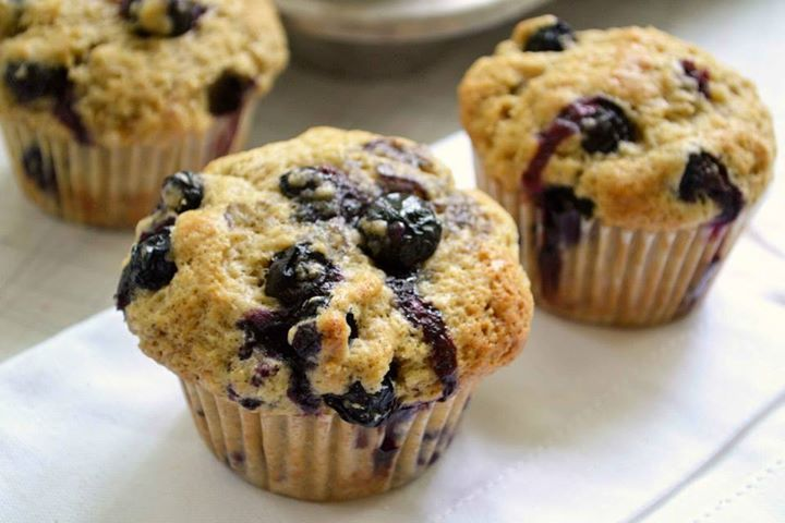 Muffins καλαμποκιού με blueberries